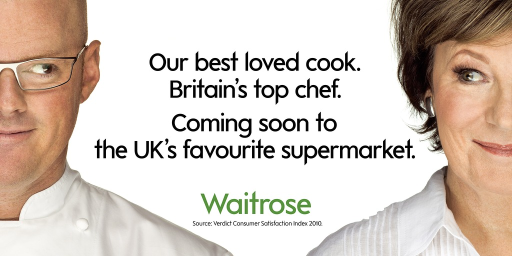 Heston Blumenthal & Delia Smith for Waitrose